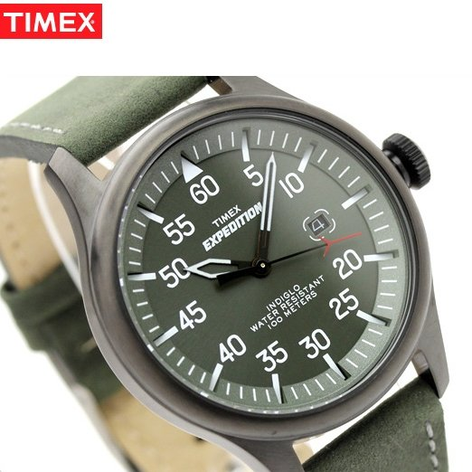 Watch Timex Expedition Military Field Black Pvd Green At