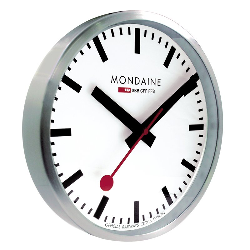 V 228 Ggklocka Mondaine Alu Wall Clock 25 V 228 Ggklockor