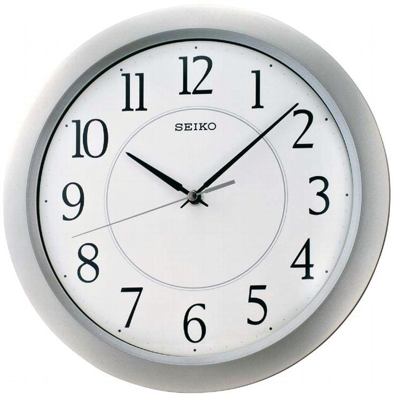 seiko wall clock quiet sweep second hand dark brown solid