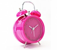 Bright Retro Alarm Pink