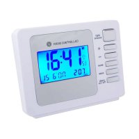 Dual Alarm RC LCD Thermo D/D White