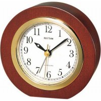 Rhythm Cirkle Wood Dark Alarm