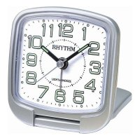 Rhythm Travel Snooze Sweep Light Silver
