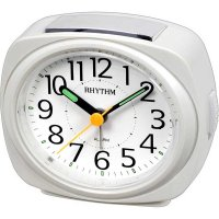 Rhythm Luminous Silent Sweep 4-Snooze White