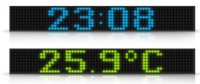 Display Colour Text Time Date Temp RGB16 55