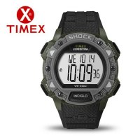 Timex Expedition LCD Shock Pusher Chronograph Grey Green