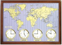 Rhythm World Clock Wood