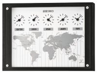 Seiko World Time Map Oak 38
