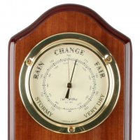 Triple Barometer Thermo Clock