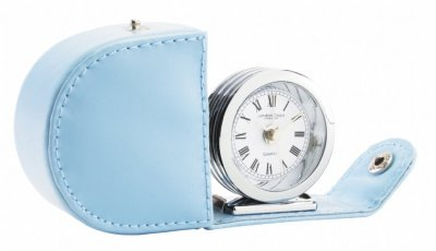 L.C.C. Travel Alarm Chrome Blue