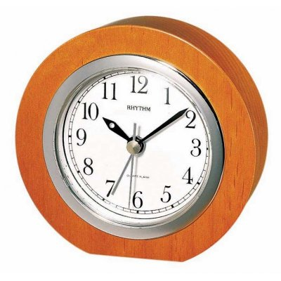 Rhythm Cirkle Wood Alarm
