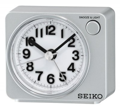 Seiko Flash LED Sweep Snooze Light Silver
