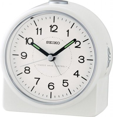 Seiko Sec Stop White RC LOUD Bell Light Snooze