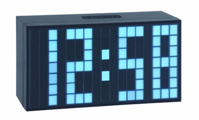 TFA LED Block Iceblue Alarm