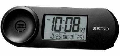 Seiko LCD Thermo Calendar Snooze Light Black