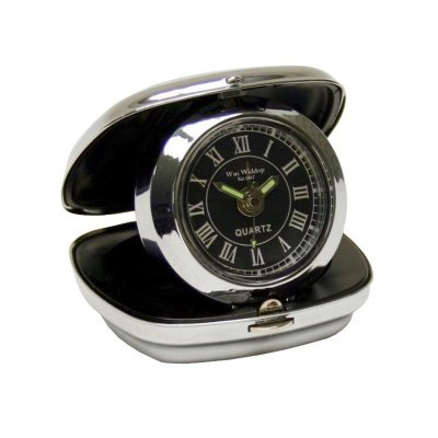 Wm.Widdop Chrome Travel Roman Black
