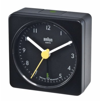 Braun Square Alarm Black