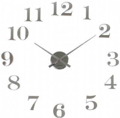 väggklocka med lösa siffror