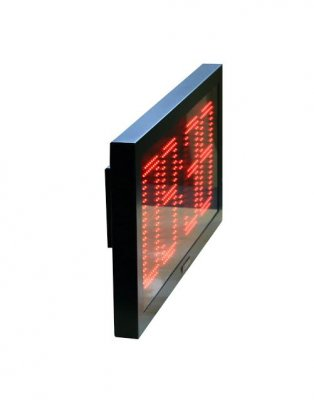 Steel IP65 LED XL 2 Timer Red 64