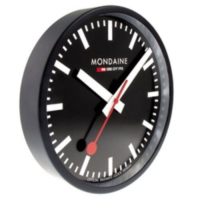 Mondaine Black Wall Clock