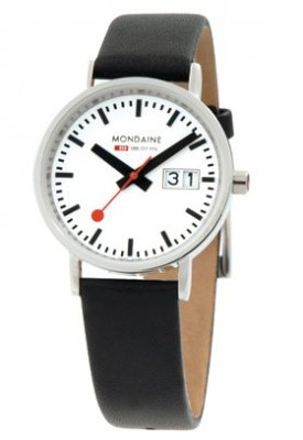 Mondaine Classic Polished w/Date 33 mm