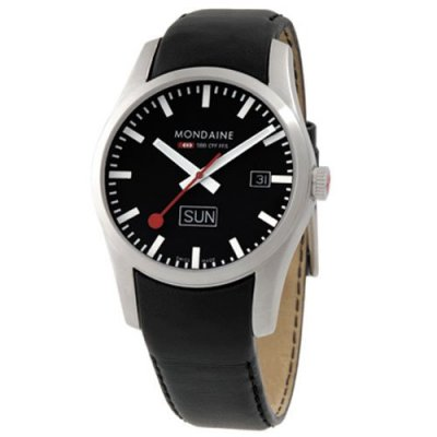 Mondaine Retro Brushed Black D/D 40mm