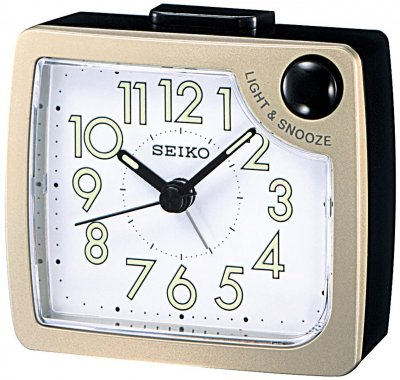 Seiko Front Light Snooze Gold