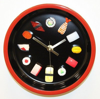Sushi Clock Deluxe Brown