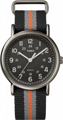 Timex Weekender Gun Metal Grey Black Orange 38mm