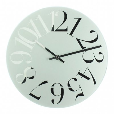 hometime mirror numeral white wall clocks priisma