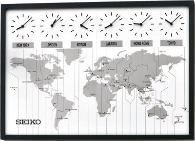 Wall clock seiko world time map oak pemium wall clocks at priisma seiko world time map oak pemium 85 gumiabroncs Choice Image