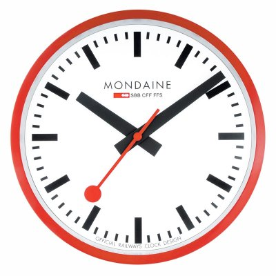 Mondaine Red Jumbo Wall Clock 40