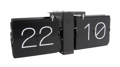 Karlsson Belt Wandklok.Wall Clock Karlsson Flip Clock No Case Black 36