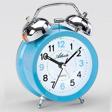 alarm clock atlanta loud bell sweep light blue alarm clocks. Black Bedroom Furniture Sets. Home Design Ideas