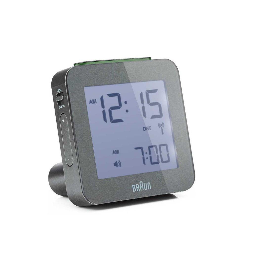 Alarm clock braun digital rcc grey alarm clocks - Wanduhr digital groay ...