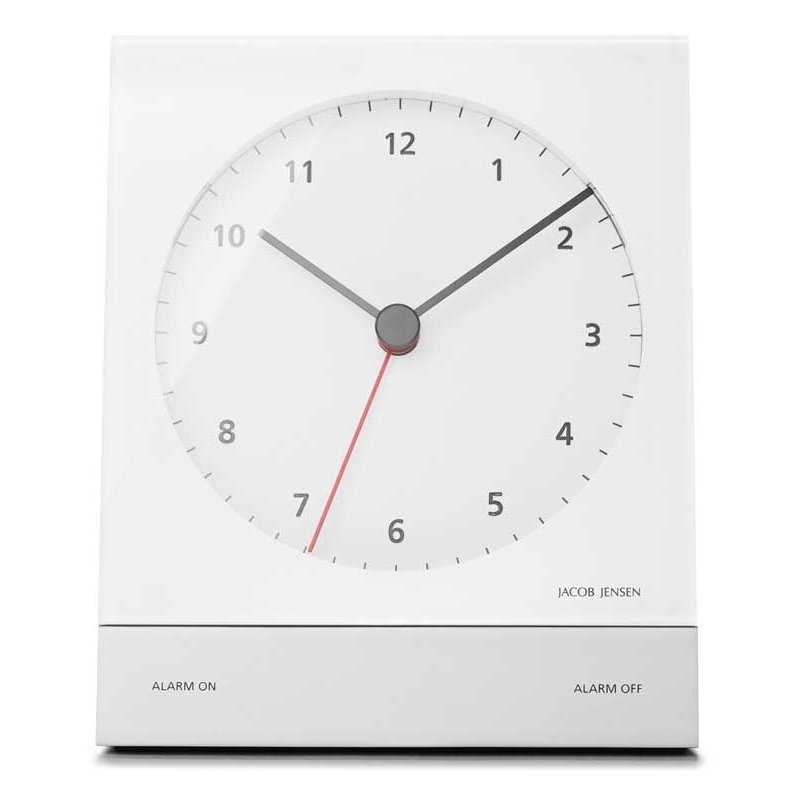 alarm clock jacob jensen alarm white alarm clocks. Black Bedroom Furniture Sets. Home Design Ideas