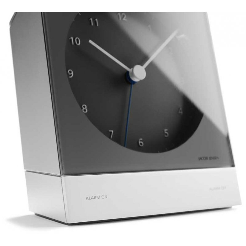 alarm clock jacob jensen rcc alarm grey alarm clocks. Black Bedroom Furniture Sets. Home Design Ideas