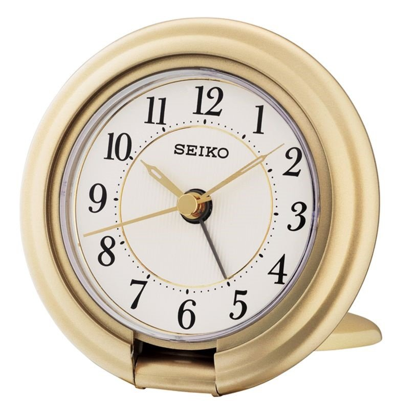 Alarm Clock Seiko Allure Travel Snooze Light Gold Alarm