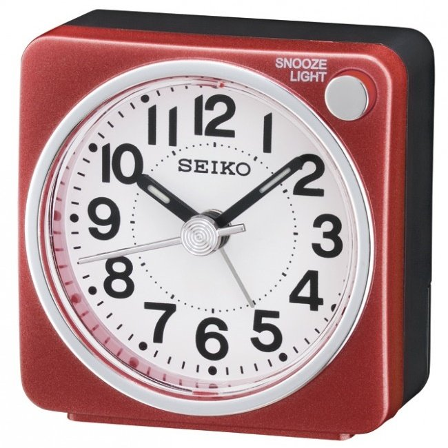 Alarm Clock Seiko First Sweep Light Lumi Chrome Red Alarm