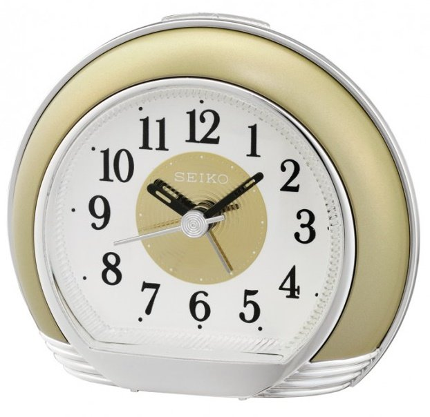 Alarm Clock Seiko Lavish Sweep Snooze Light Gold Alarm Clocks