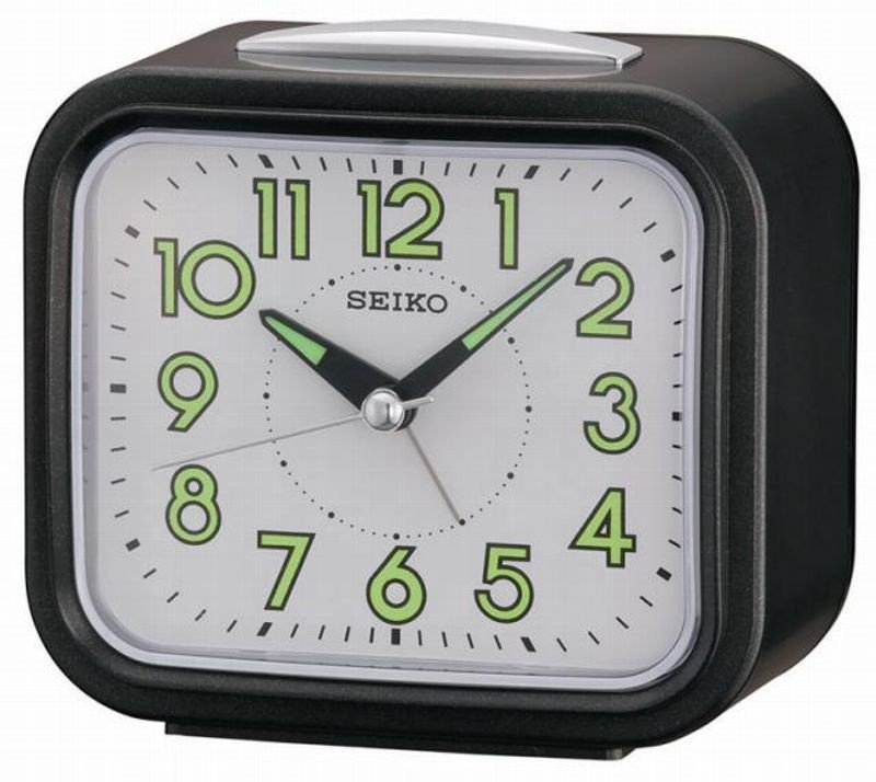 Alarm Clock Seiko Old Timer Sweep Snooze Light White