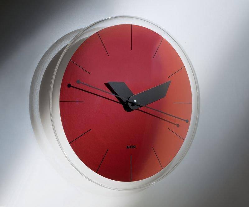 Wall Clock Alessi Sole Red Wall Clocks Priisma