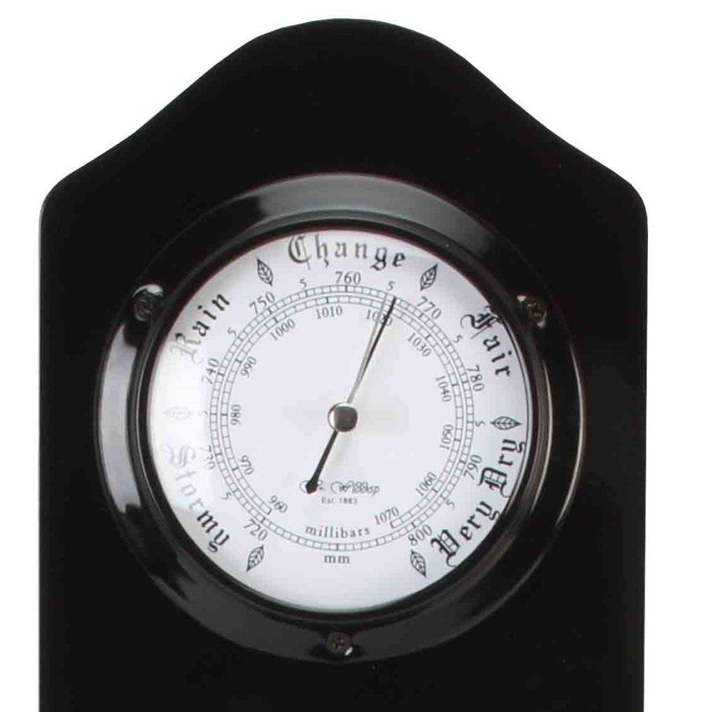 Barometer Wm. Widdop Black Barometer Thermo Clock