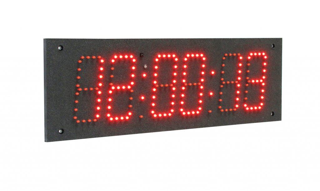 Wall Clock Rgb Technology Hermetic Led 1 Timer Red 49
