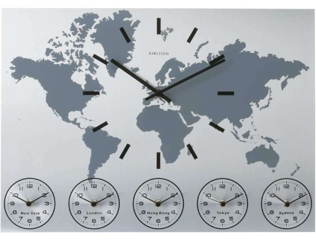 Wall clock karlsson world time wall clocks priisma for World time zone wall clocks