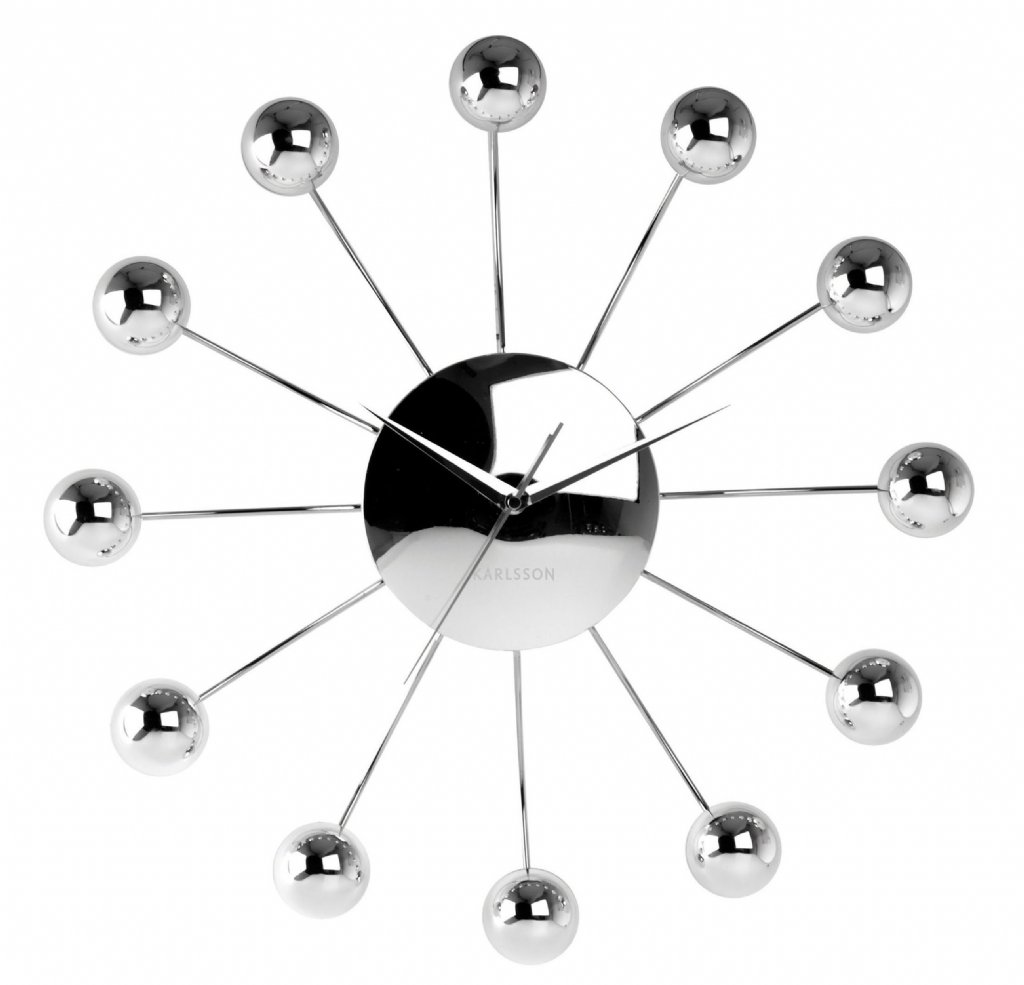 Wall clock karlsson big spider silver wall clocks priisma big spider silver amipublicfo Images
