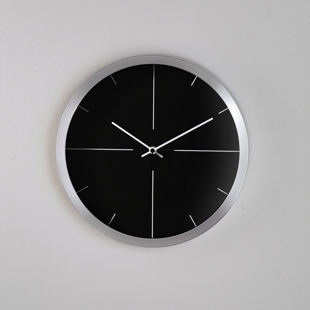 Wall clock kare modern times silver wall clocks priisma for Silver wall clocks modern