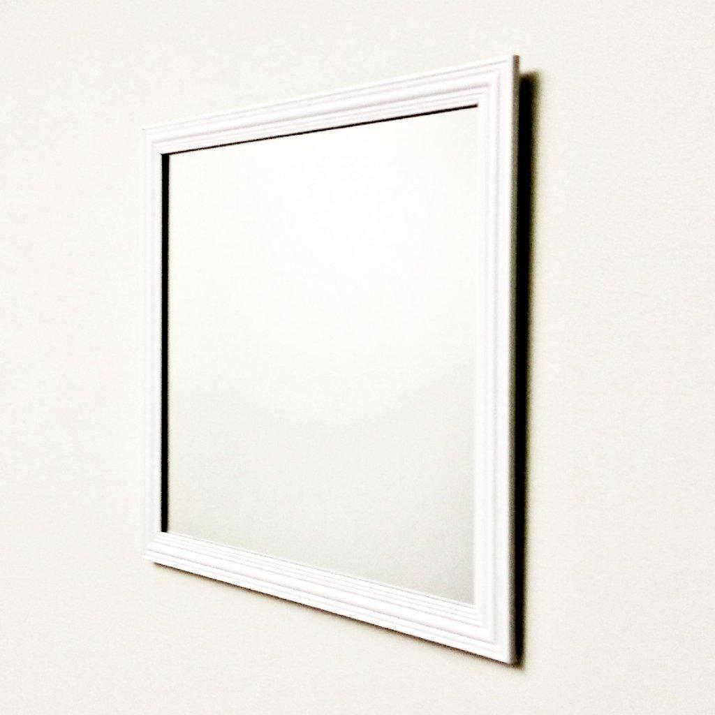 Mirror no brand small decor white mirrors priisma for White decorative mirror