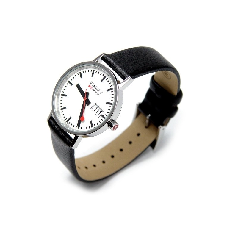 Watch Mondaine Classic Polished W Date 33 Mm At Priisma
