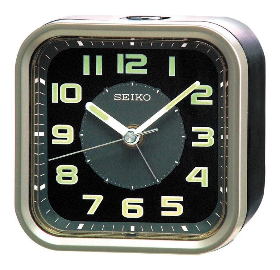 Alarm Clock Seiko Function Sweep Snooze Light Black Alarm